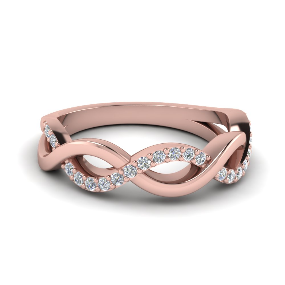 Exceptionnel Infinity Diamond Wedding Band In FD1079B NL RG
