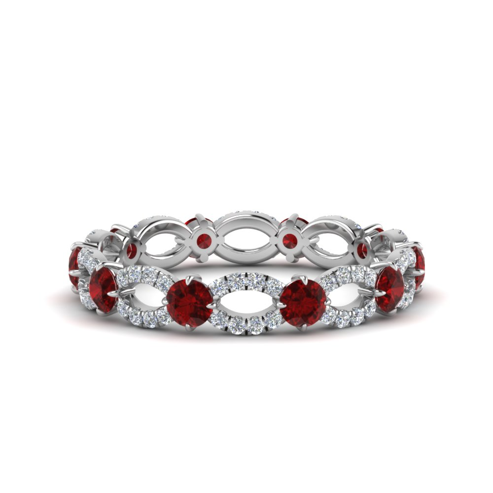 1.50 Carat Ruby Eternity Ring