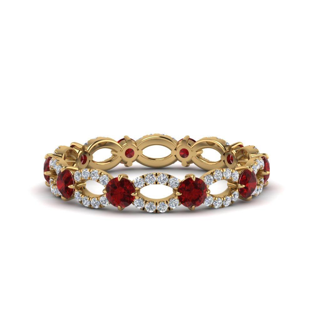 1.50 Ct. Eternity Ring With Ruby