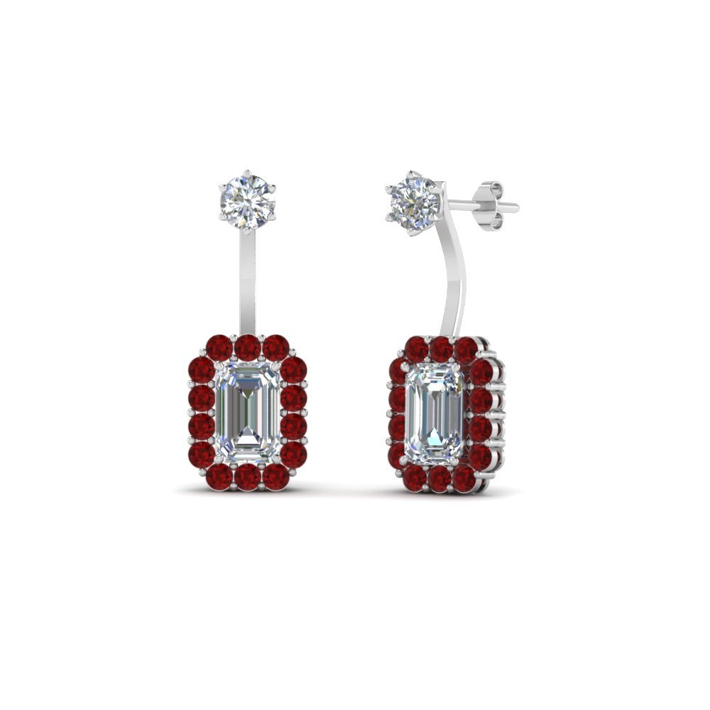 Front Back Diamond Earring