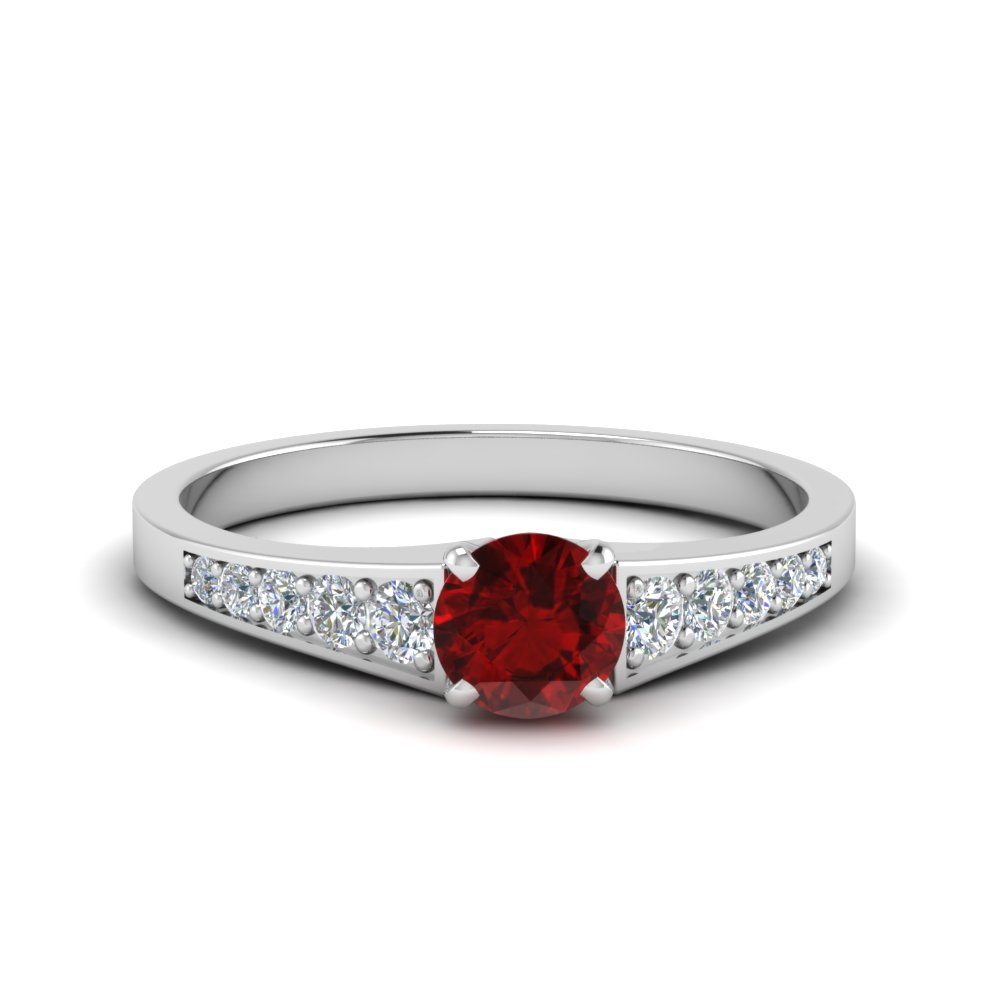Graduated Colorful Engagement Ring