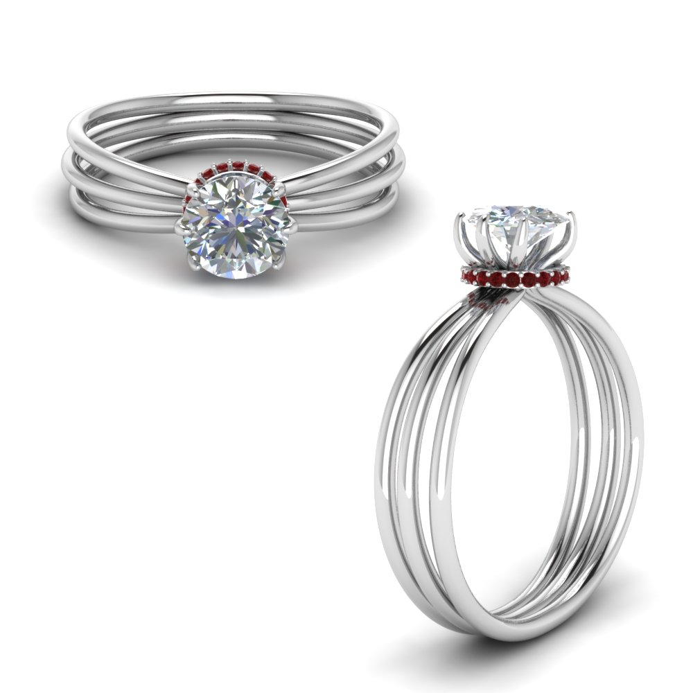 Multi Strand Engagement Ring