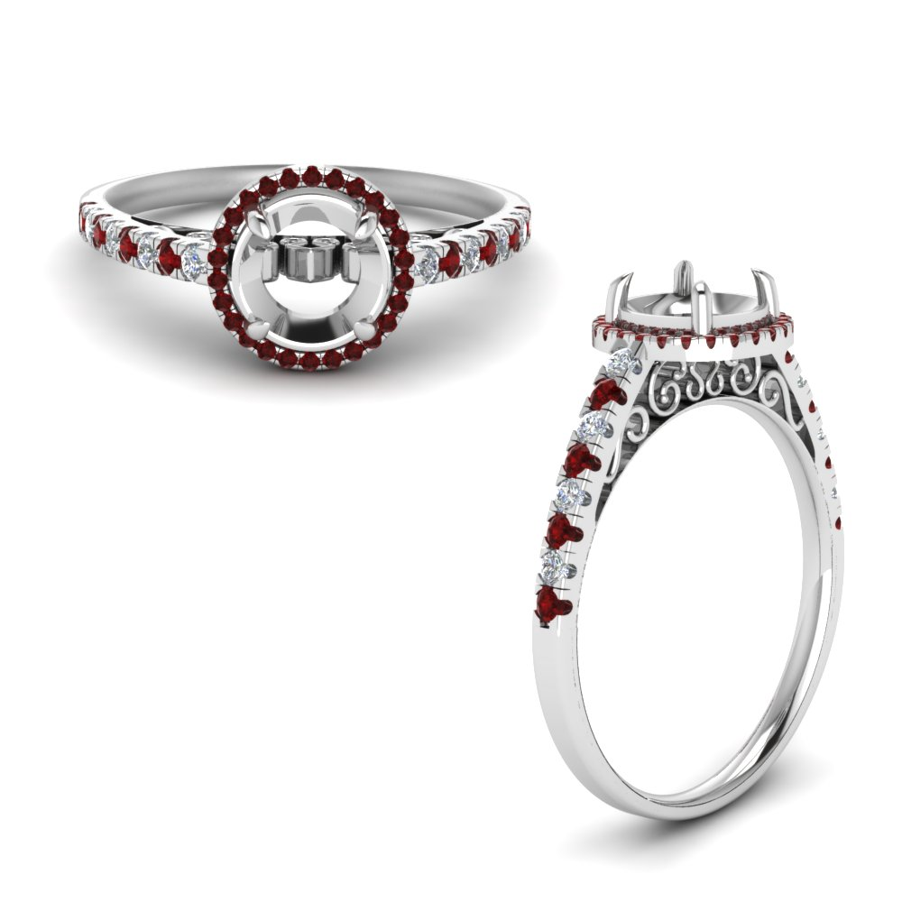 Halo Engagement Ring Setting Only