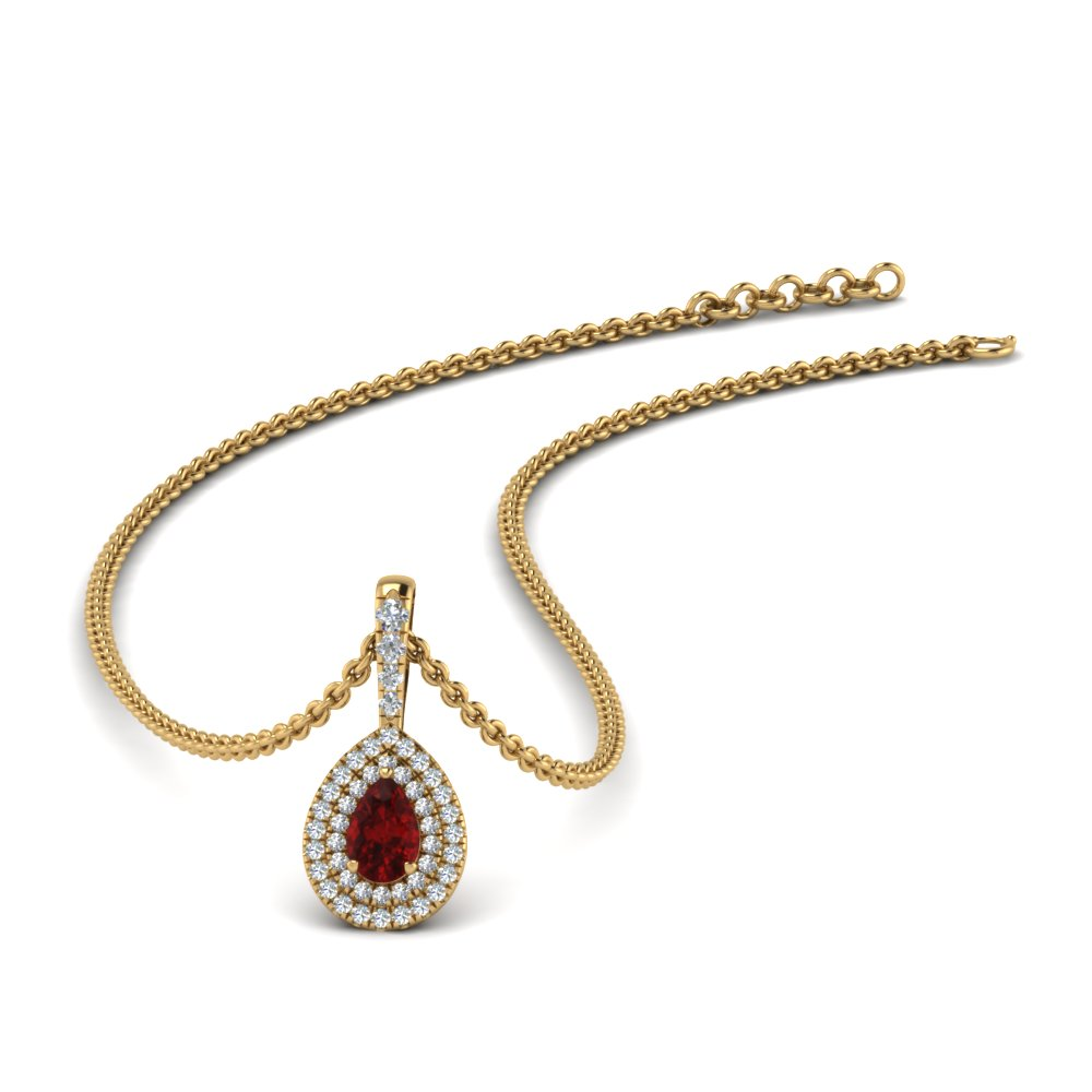 ruby-pear-shaped-double-halo-diamond-pendant-in-FDPD86826PE(6.0X4.0MM)GRUDR-NL-YG-GS