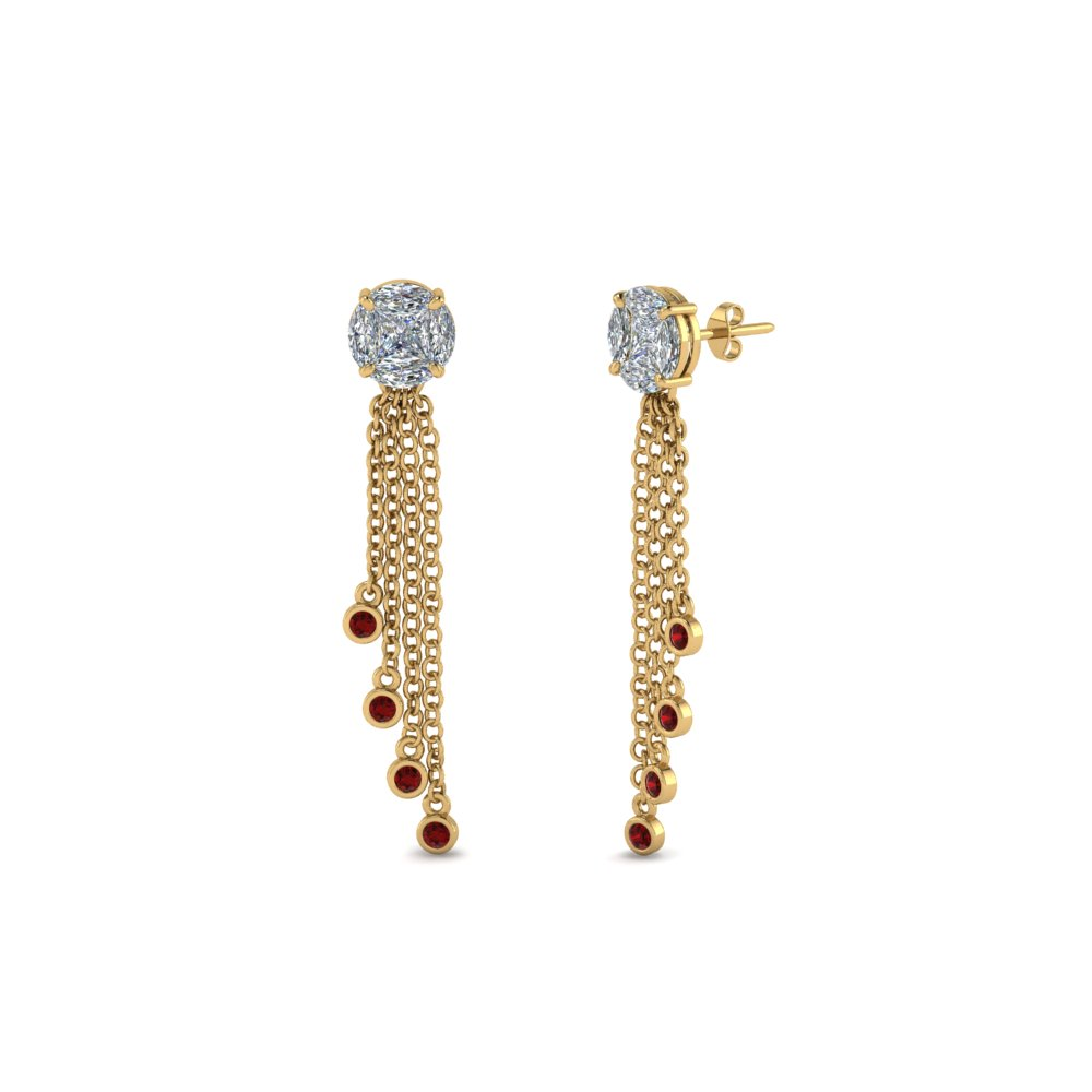Beautiful Collection Of Ruby Earrings