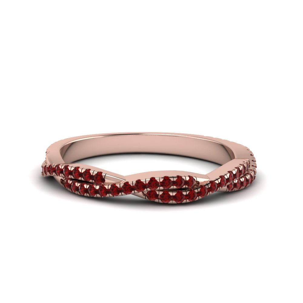 ruby twisted wedding band gift for her in FD8233BGRUDR NL RG GS.jpg