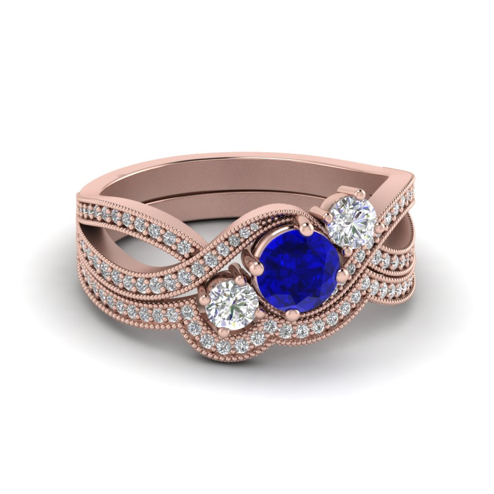 sapphire-3-stone-crossover-wedding-ring-set-in-FD8101ROGBS-NL-RG