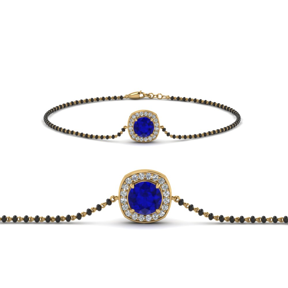 sapphire-bracelet-mangalsutra-with-black-beads-in-MGBRC8648GSABL-NL-YG