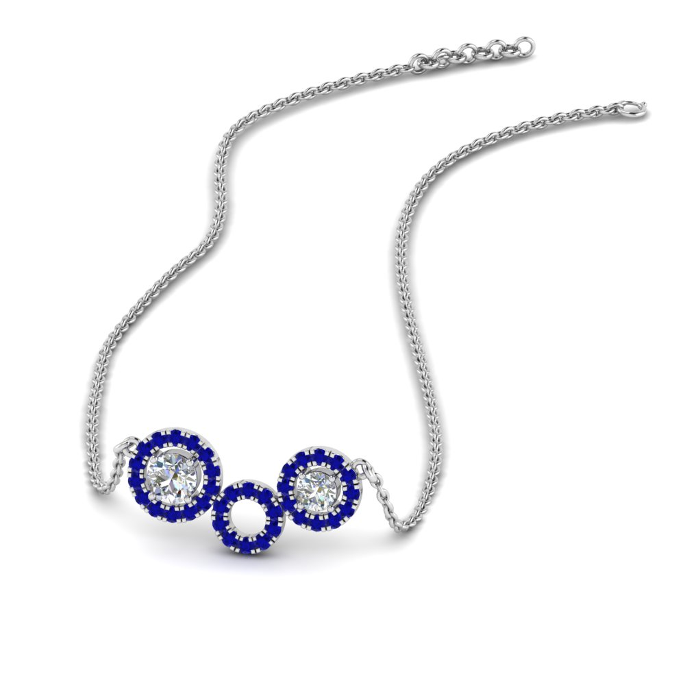 sapphire circle diamond pendant necklace in FDPD8935GSABL NL WG.jpg