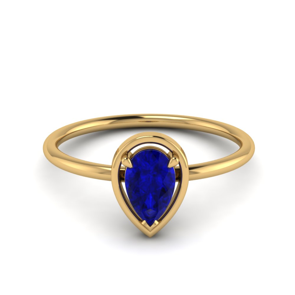 Solitaire Sapphire Non Traditional Ring