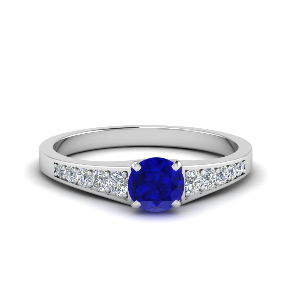 graduated sapphire engagement ring in FD8048RORGBS NL WG