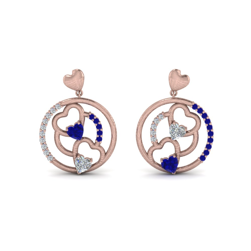 stone earring white for with nl in female yg stud jewelry diamond gold women three yellow earrings small