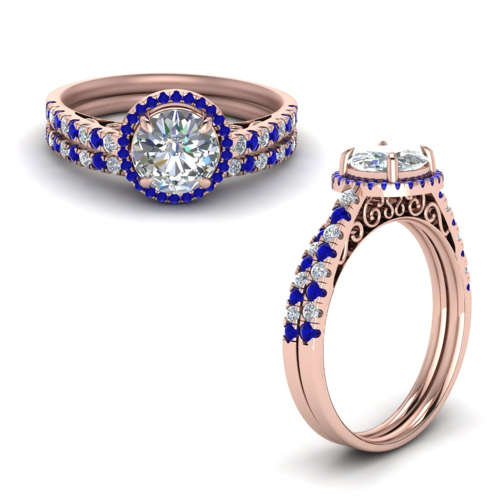 Sapphire Wedding Ring Sets