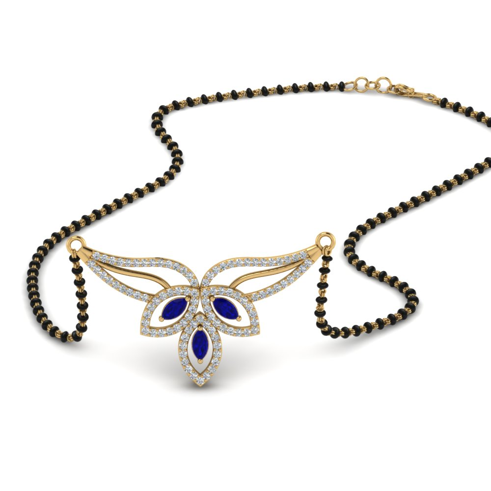 18K Yellow Gold Mangalsutra Necklace