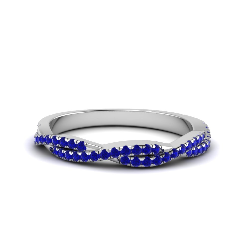 sapphire twisted wedding band gift for her in FD8233BGSABL NL WG GS.jpg