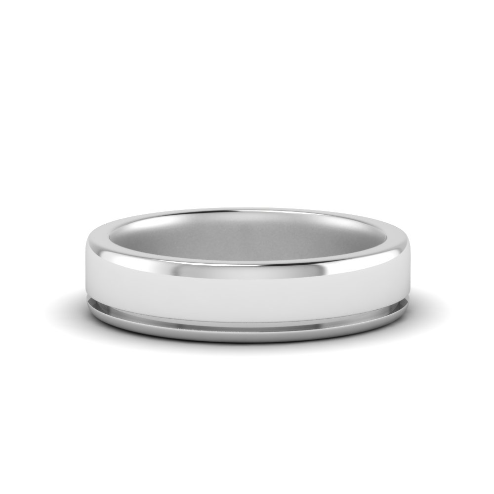 Single Inlay Wedding Band