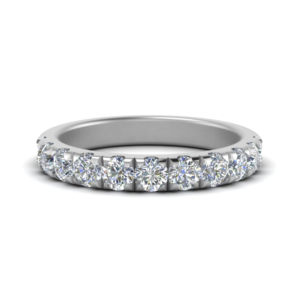 0.90 ct. scalloped-diamond-half-eternity-wedding-band-in-FD123883RO(2.80MM)-NL-WG