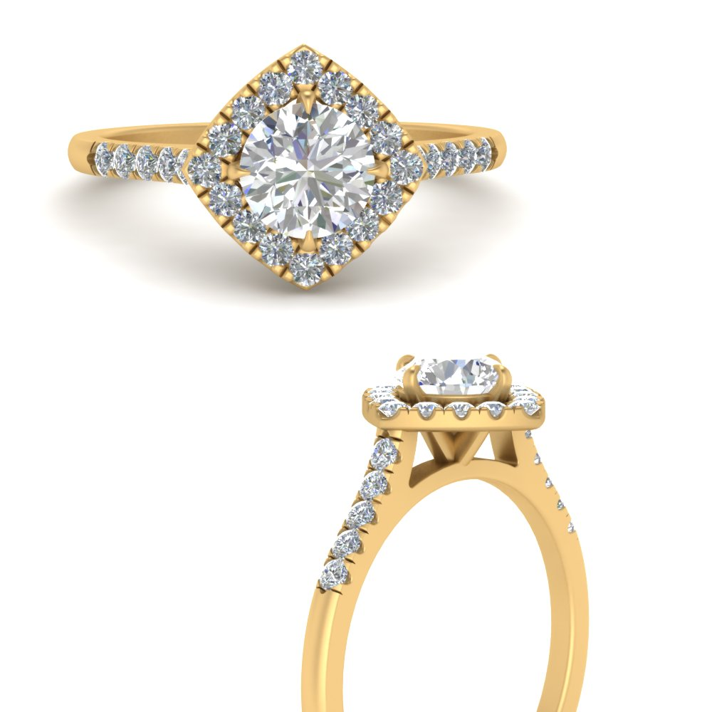 scalloped-pave-halo-round-lab-lab diamond-engagement-ring-in-FDENR8802RORANGLE3-NL-YG