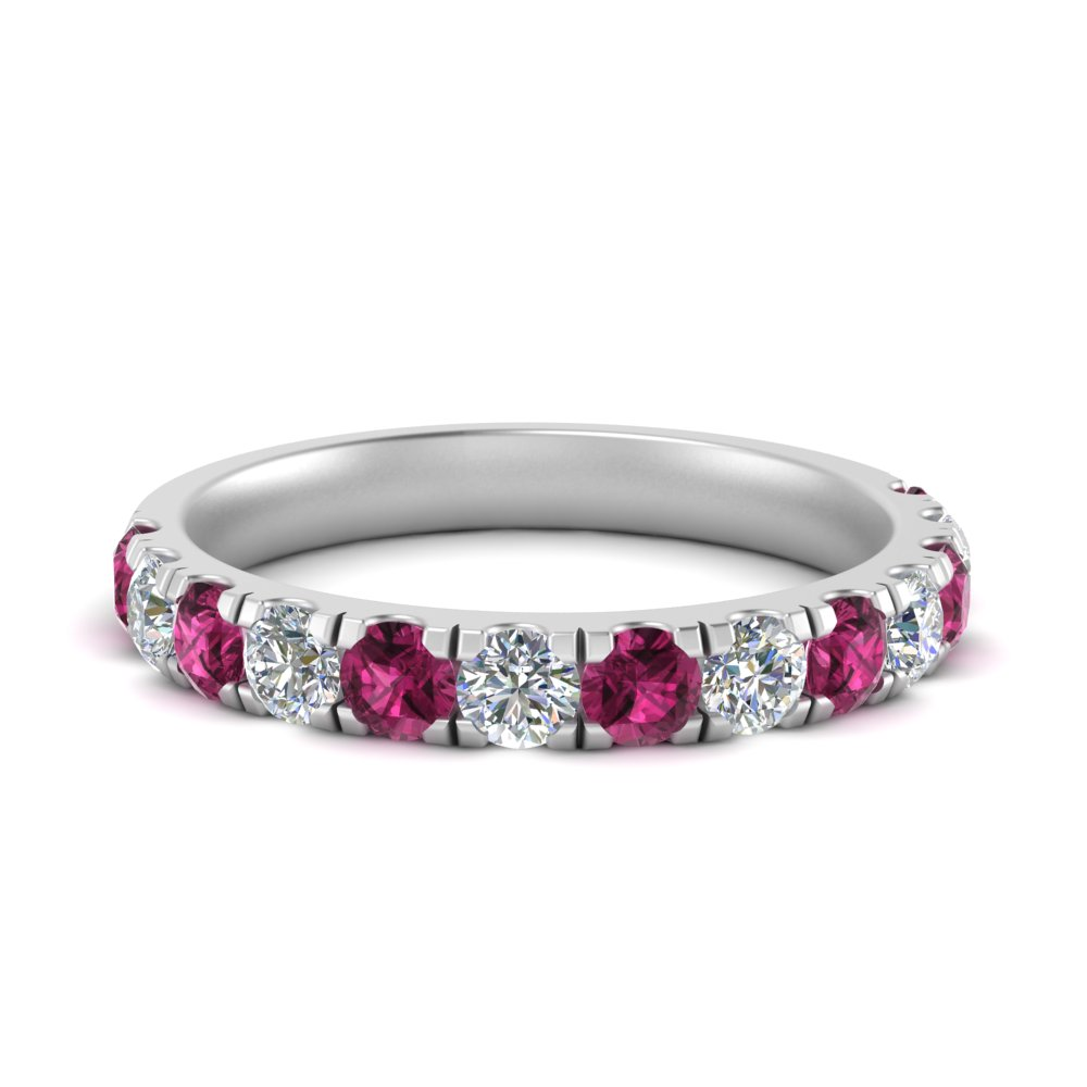 scalloped-pave-wedding-diamond-ring-1-carat-with-pink-sapphire-in-FD9331(1.0CT)GSADRPI-NL-WG