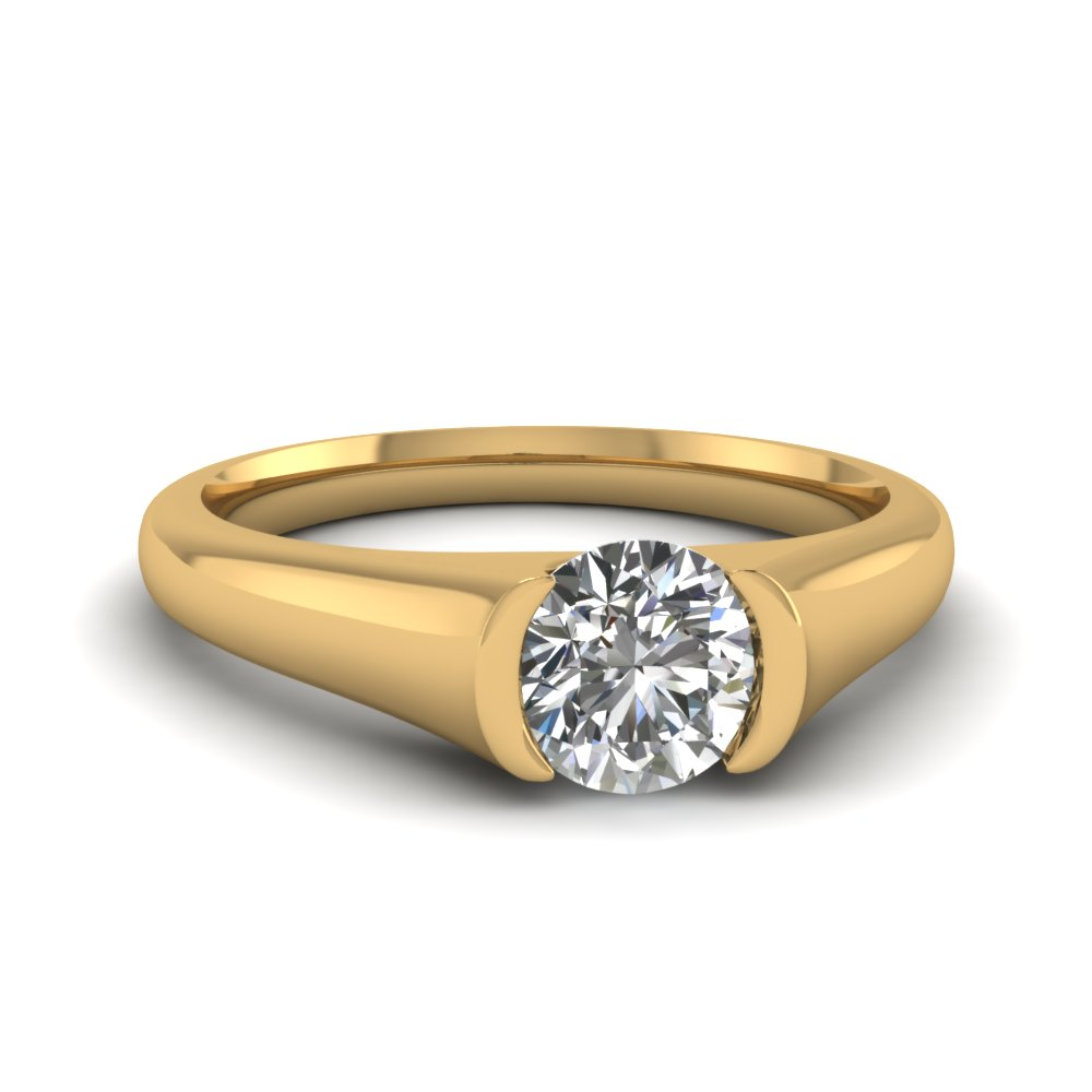 Diamond Solitaire Ring  Carat Round Cut
