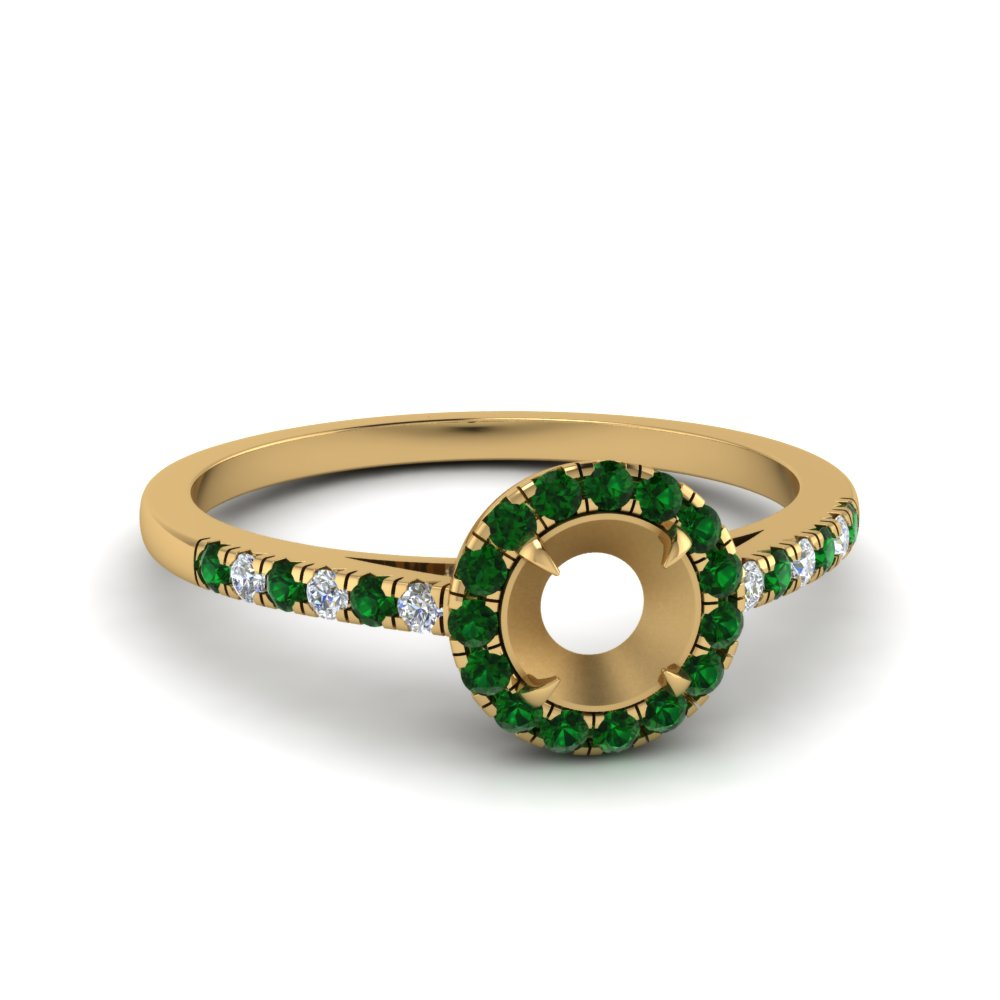 Semi Mount Beautiful Emerald Ring