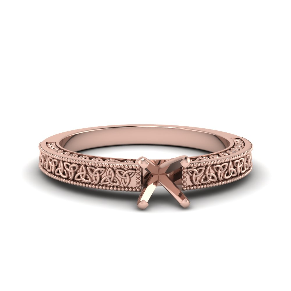 Celtic Engraved Ring Setting