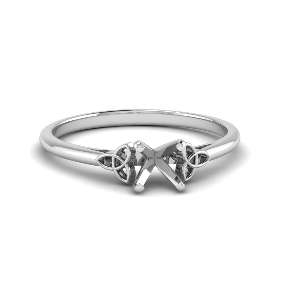 Platinum Celtic Semi Mount Solitaire Ring