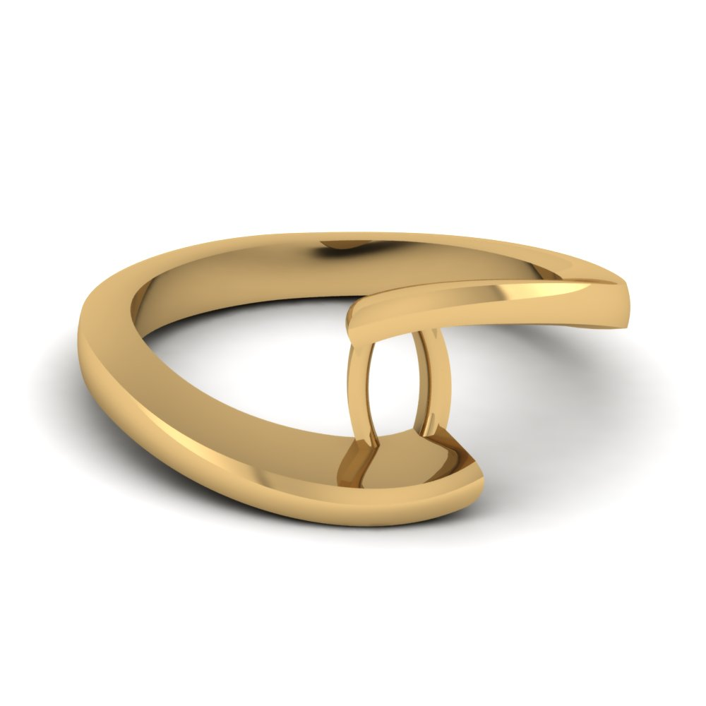 Gold Solitaire Ring Semi Mounts