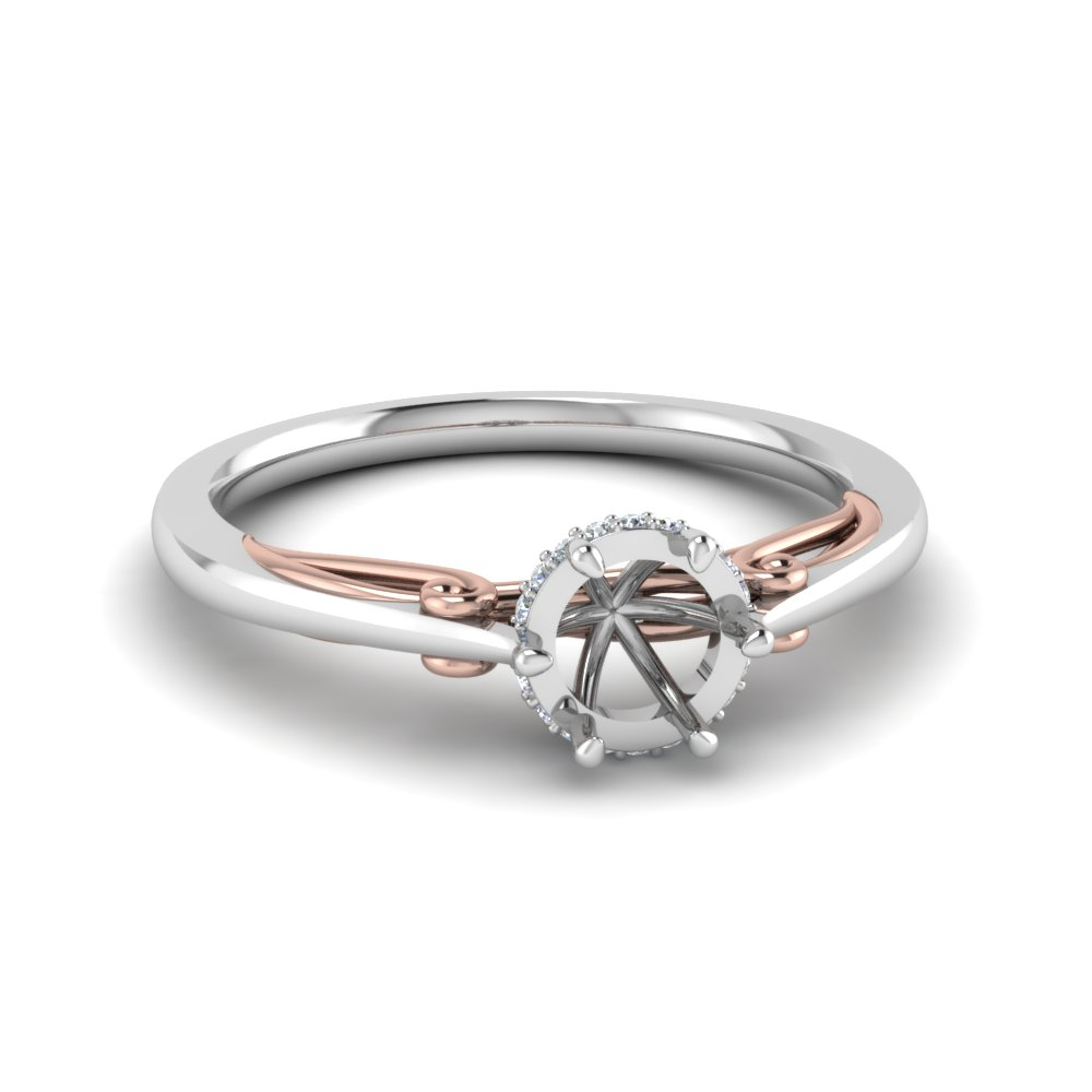 Delicate 2 Tone Ring Setting