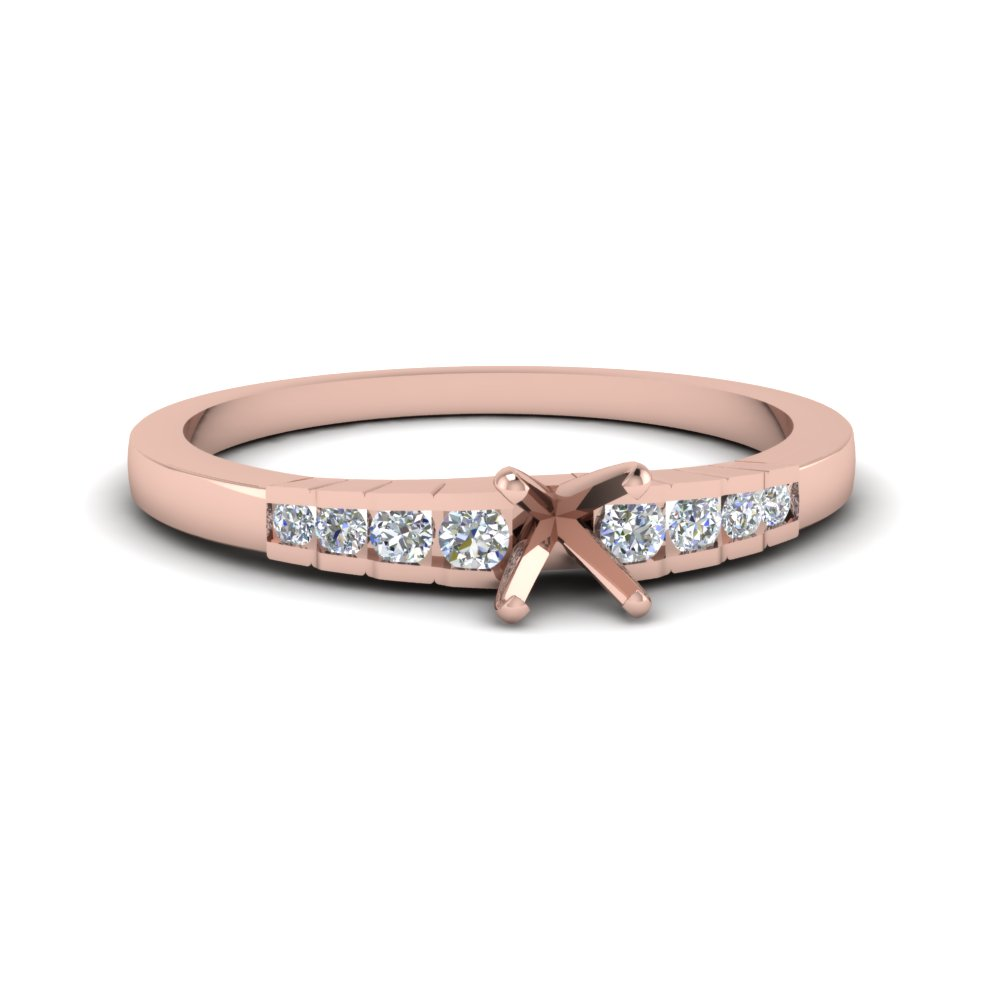 Rose Gold Petite Ring Settings