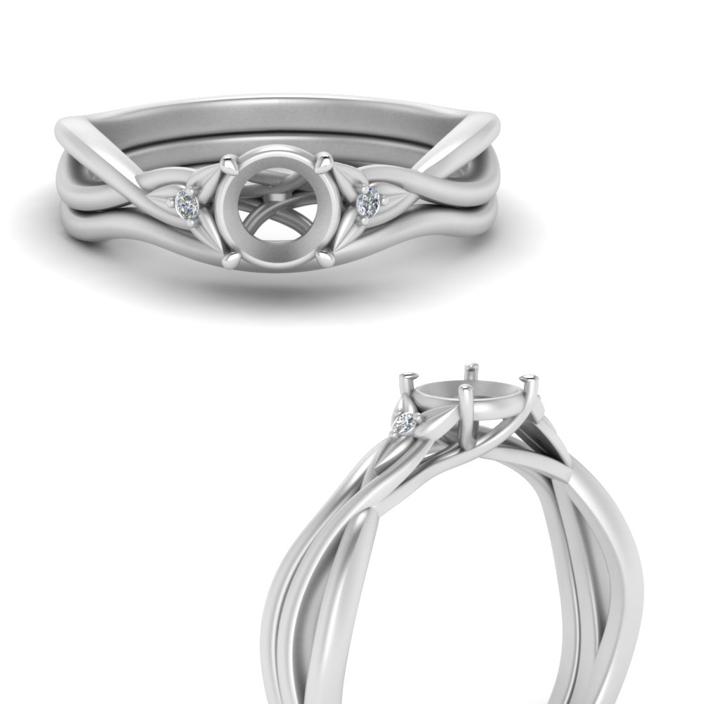 semi-mount-floral-3-stone-diamond-engagement-ring-with-matching-band-in-FD124154SMANGLE3-NL-WG