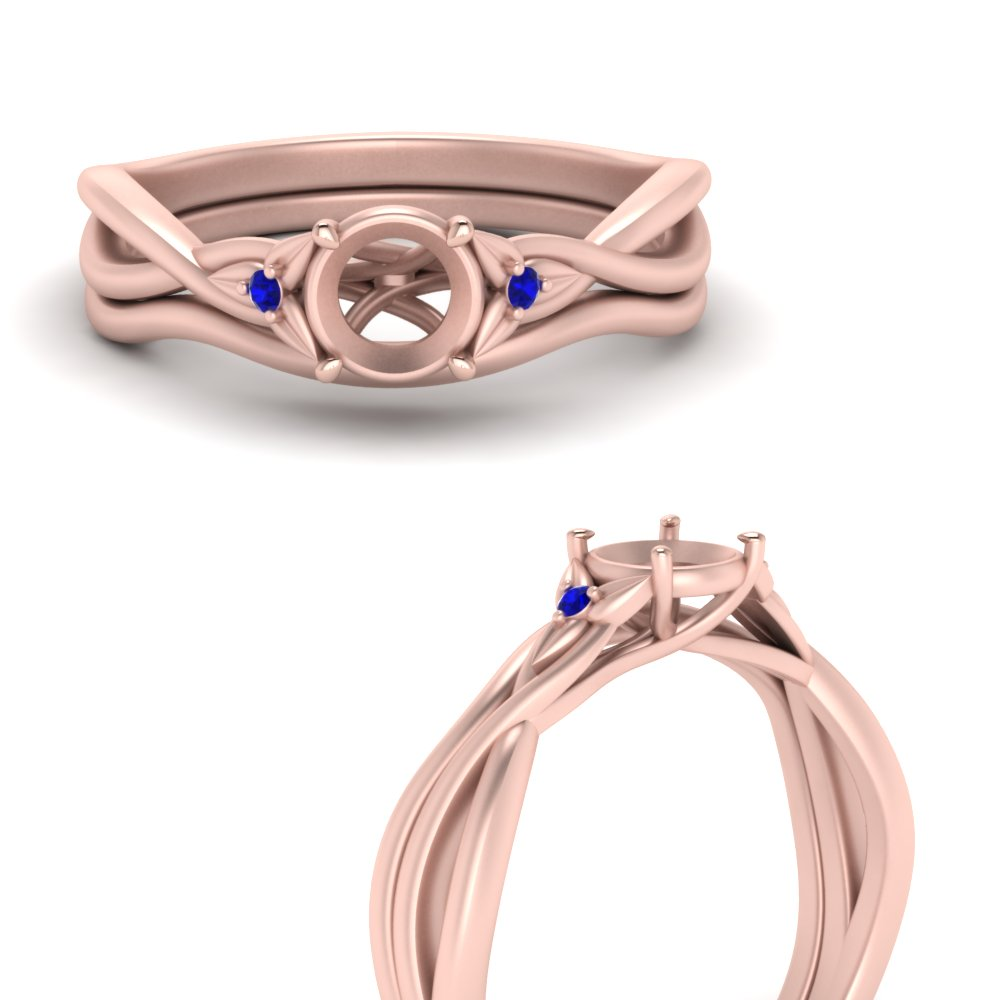 semi-mount-floral-3-stone-sapphire-engagement-ring-with-matching-band-in-FD124154SMGSABLANGLE3-NL-RG