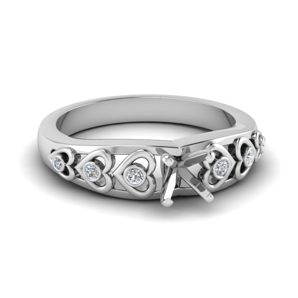 Heart Design Diamond Ring Setting