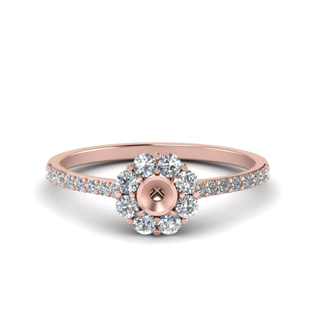 Semi Mount Floral Diamond Ring