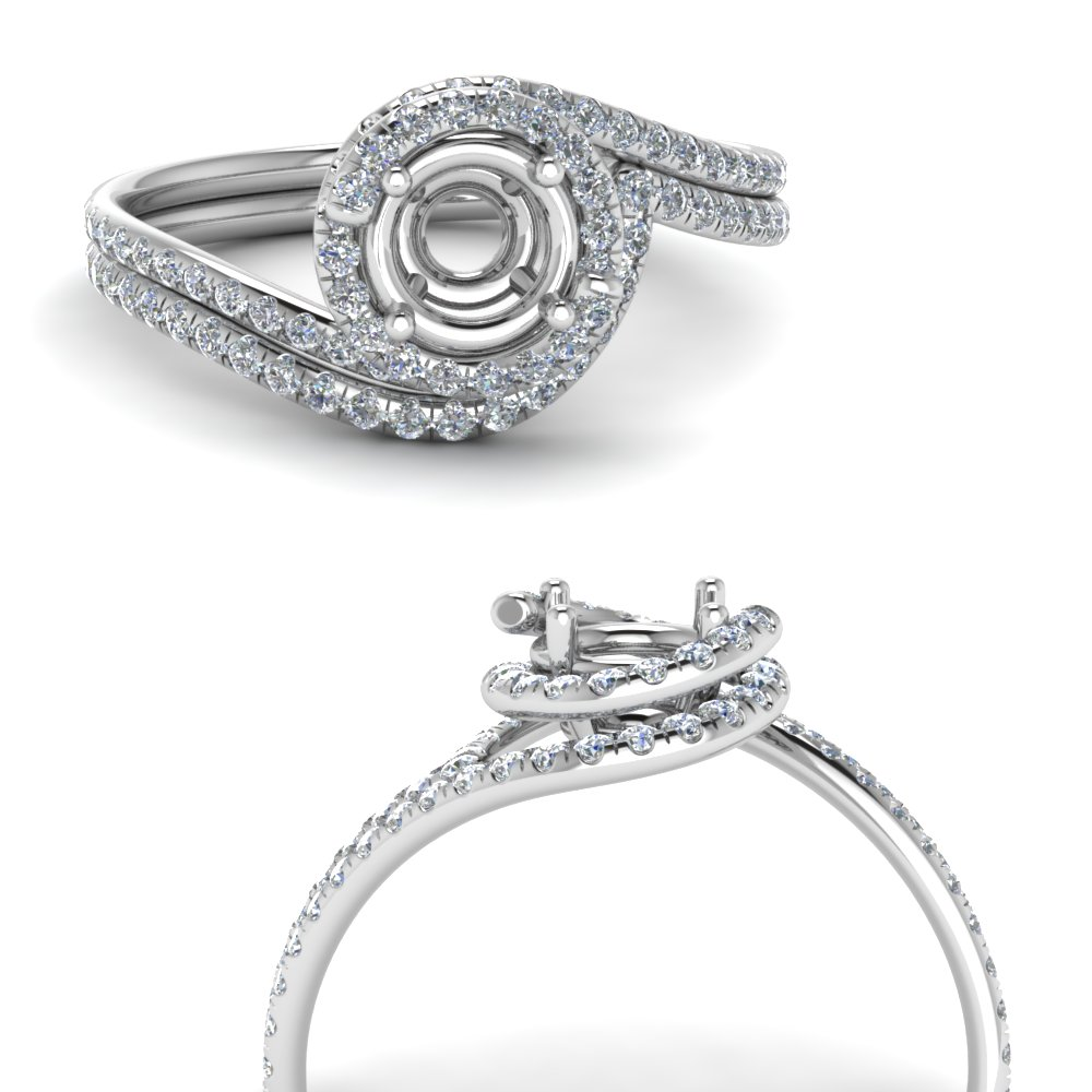 semi mount simple diamond halo swirl bridal set in FDENS1295SMANGLE3 NL WG.jpg