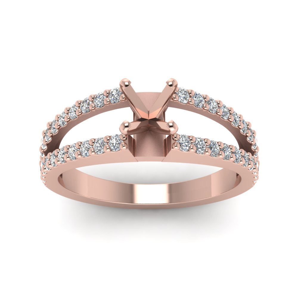 Semi Mount Split Shank Engagement Ring