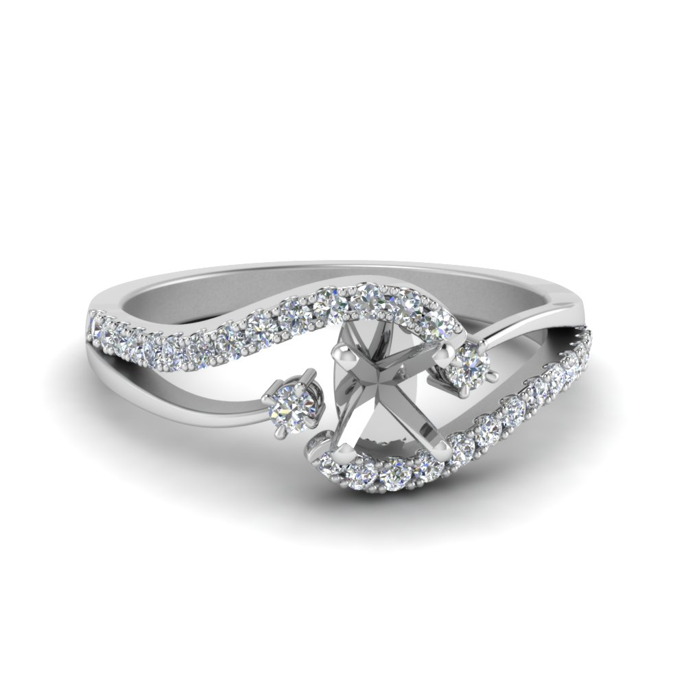 Semi Mount Swirl Engagement Ring