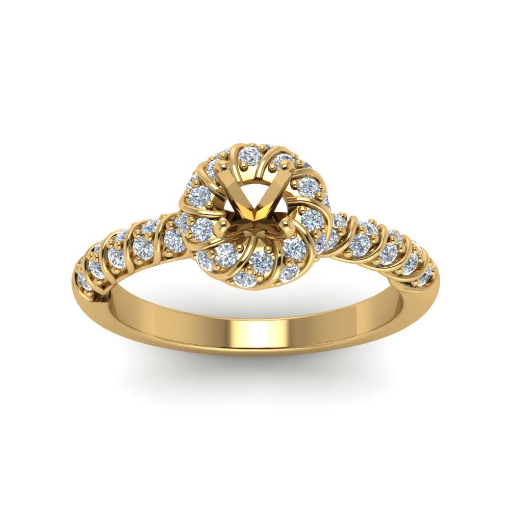 Semi Mount Vintage Engagement Ring