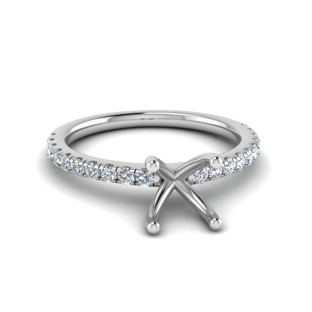 Semi Mount U Prong Diamond Ring