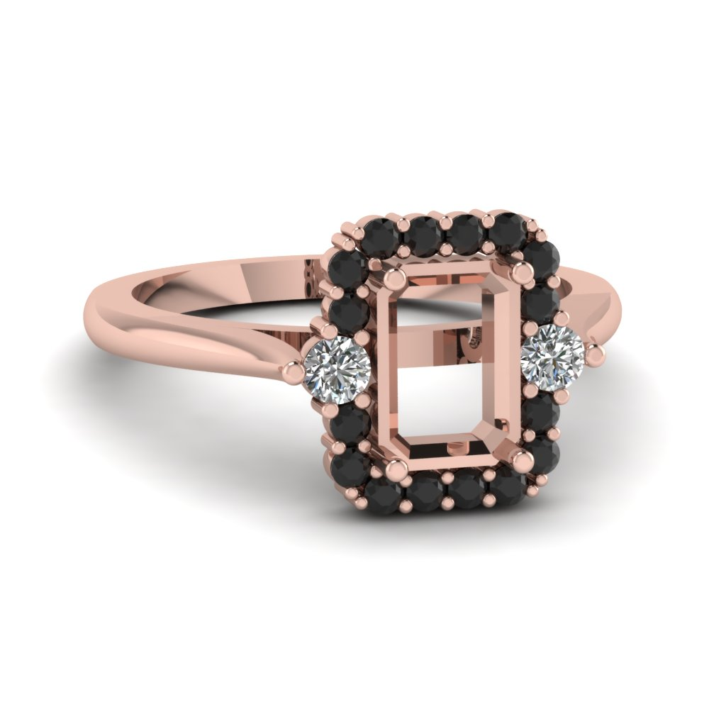 Rose Gold Black Diamond Ring Settings