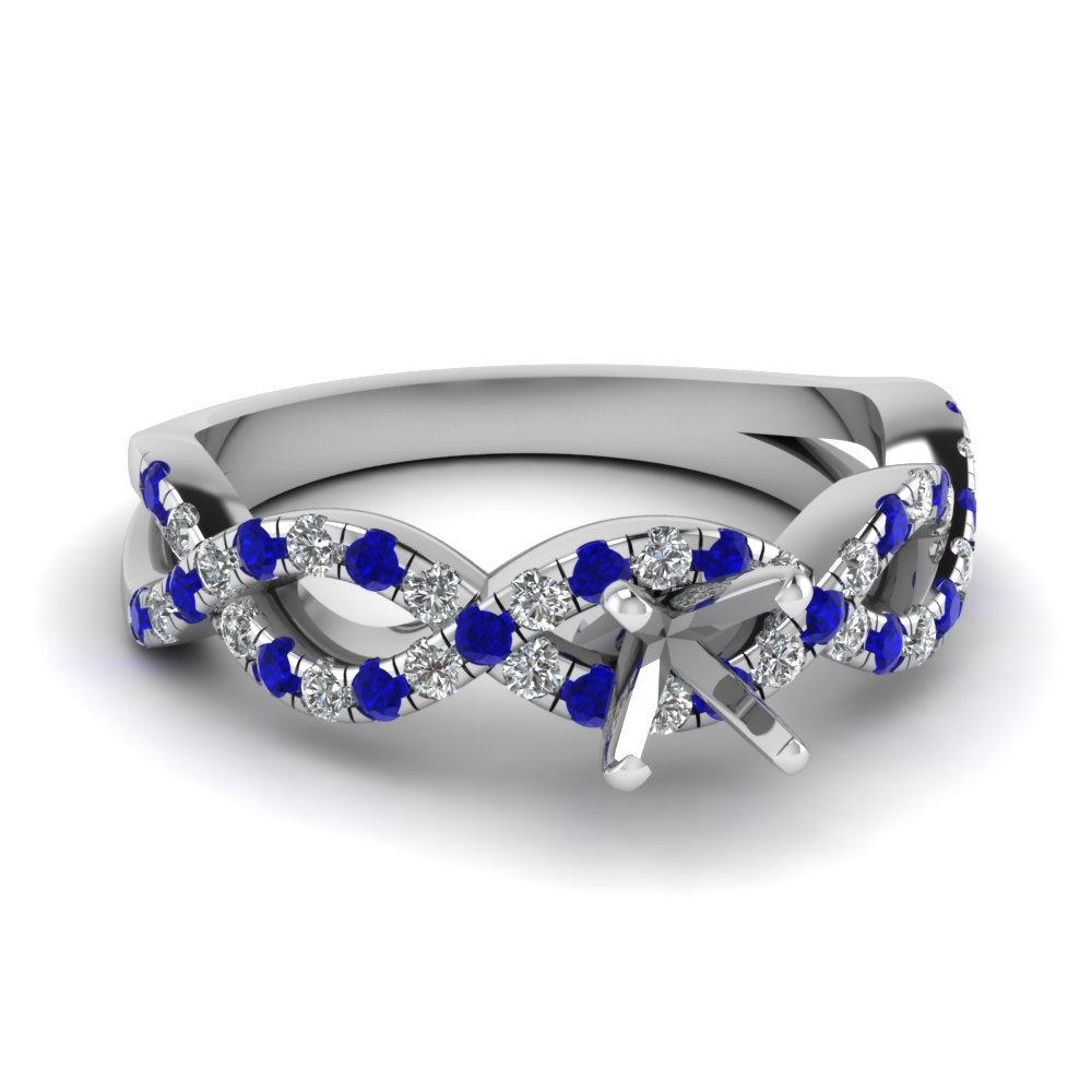 semi mount infinity diamond ring with sapphire in FD1121SMRGSABL NL WG.jpg