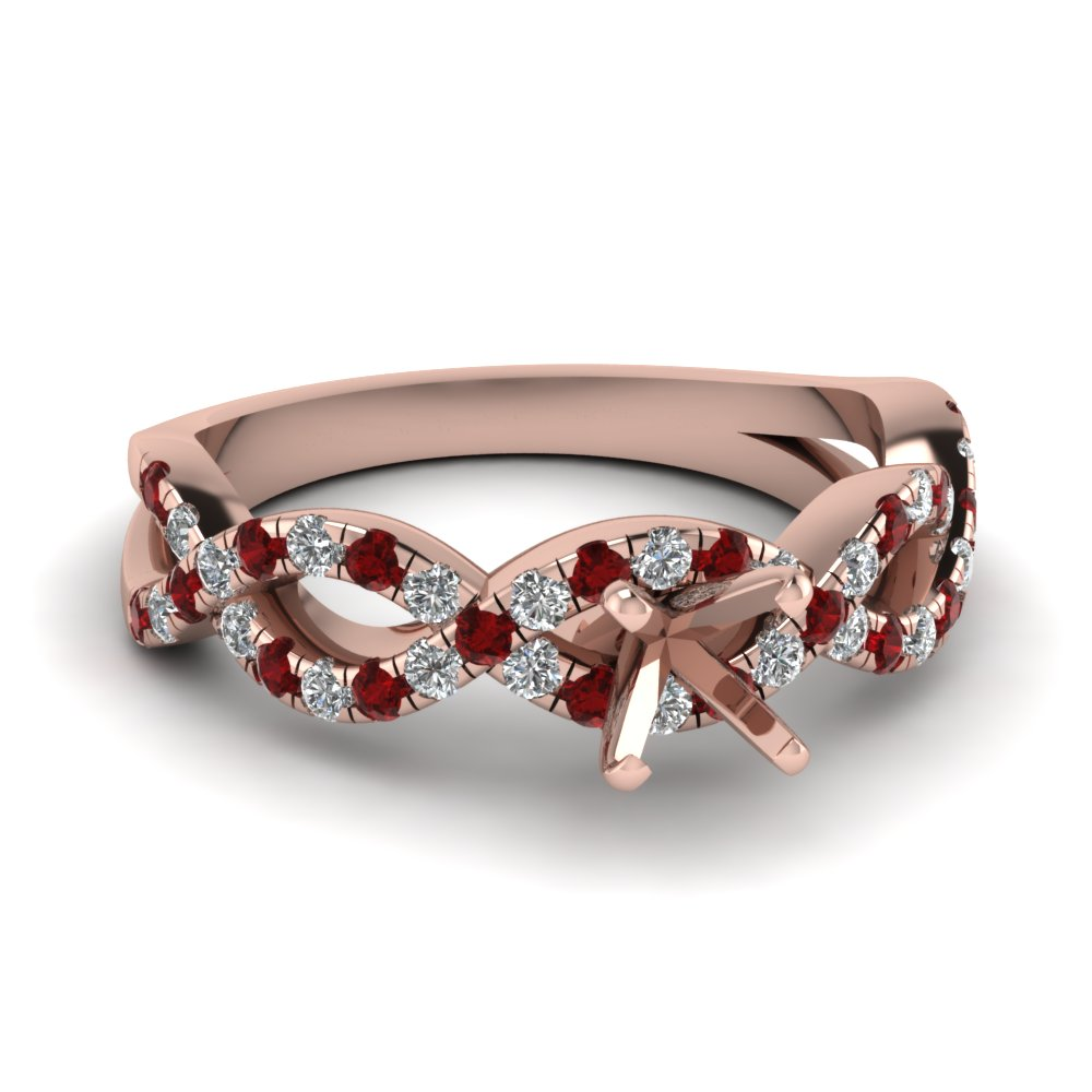 semi mount infinity diamond ring with ruby in FD1121SMRGRUDR NL RG.jpg