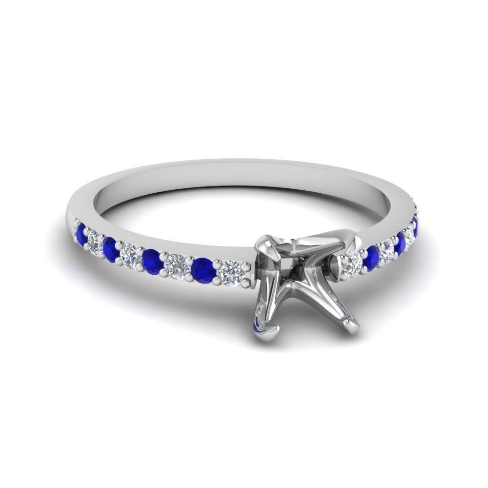 delicate semi mount diamond petite engagement ring with sapphire in FD1026SMRGSABL NL WG.jpg