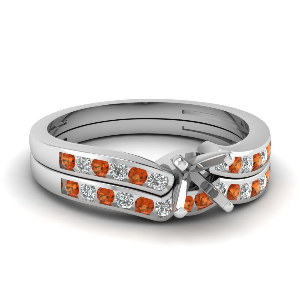 semi mount diamond channel bridal set with orange sapphire in FDENS3092SMGSAOR NL WG.jpg