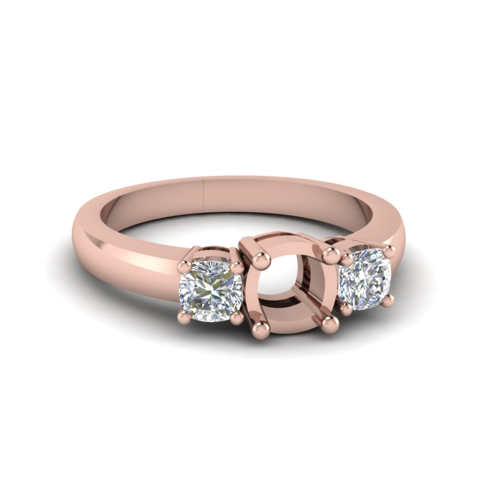 Classic 3 Stone Ring Setting
