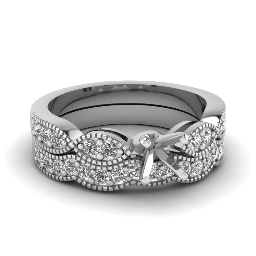 semi-mount-with-white-diamond-milgrain-weave-wedding-set-in-14K-white-gold-FDENS3053SM-NL-WG