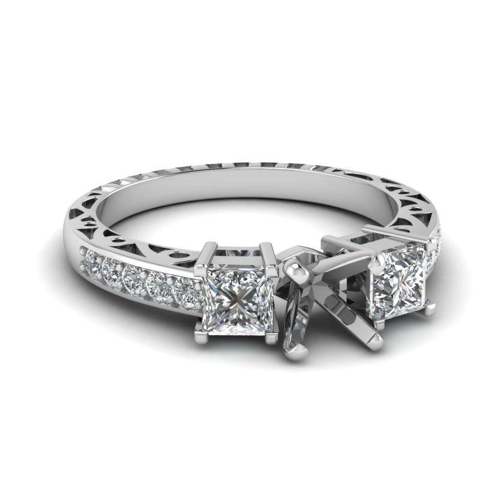 Vintage Style Engagement Ring Setting