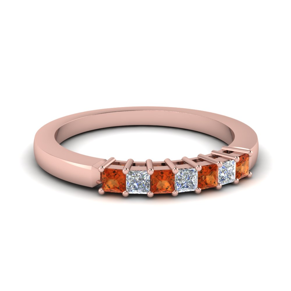 Rose Gold 7 Stone Band