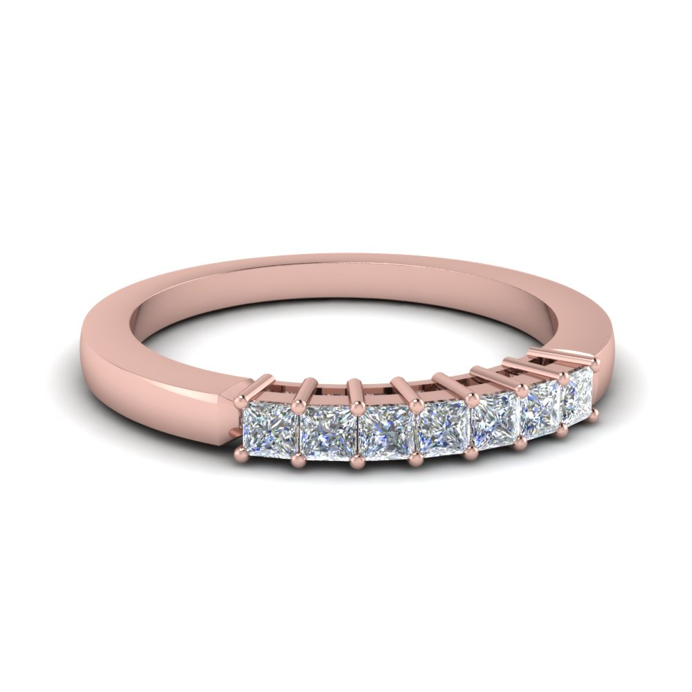Princess Cut 7 Stone Diamond Band