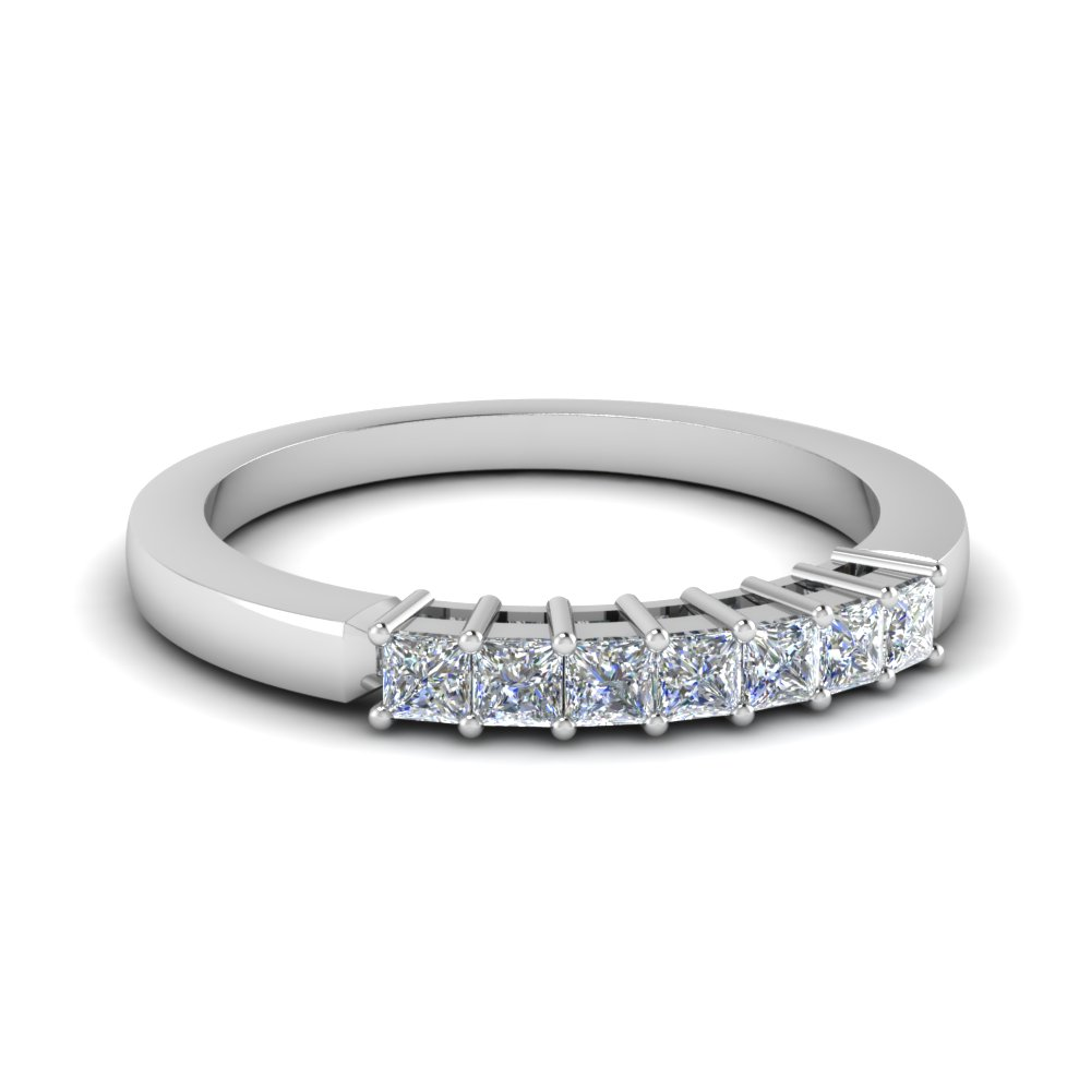 Princess Cut 7 Stone Wedding Band